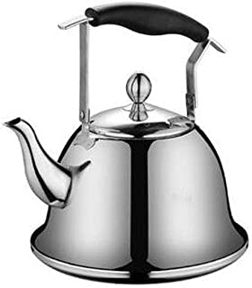 LJBH Thickened 304 Stainless Steel Kettle, Small Capacity Whistling My Fastest Boiling, Gas, Electric, Induction Stove Sil...