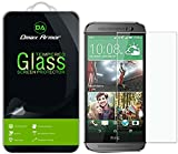 [2-Pack] Dmax Armor for HTC One M8 Screen Protector, [Tempered Glass] 0.3mm 9H Hardness, Anti-Scratch, Anti-Fingerprint, Bubble Free, Ultra-Clear