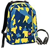 Seven The Double Zaino Casual, 44 cm, 27 litri, Blu Camouflage