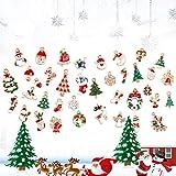 LYTIVAGEN 25 Stück Mini Weihnachten Anhänger Schmuckanhänger Weihnachten Hängende Ornamente Emaille Christbaum Anhänger Weihnachtsbaum Schmuck Tannenschmuck für Weihnachten Dekoration DIY Schmuck