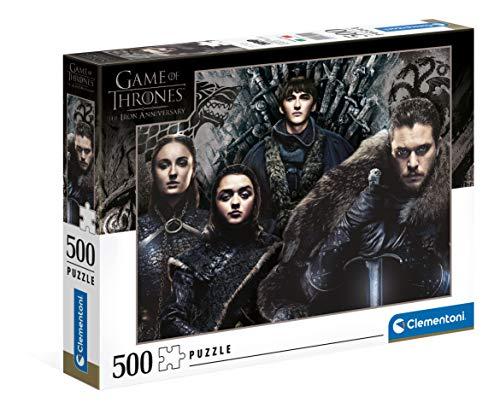 Clementoni- PZL 500 Juego DE Tronos Game of Thrones Puzzle Adulto, Multicolor (35091)