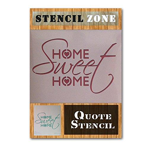 Hogar, dulce hogar Vintage elegante lamentable Mylar pintura del arte de la plantilla (A5 Tamaño de la plantilla - XSmall)