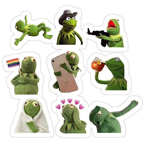 Story Storm Store Kermit Meme Stickers Stickers (3 Pcs/Pack)