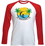 teesquare1st Benidorm Spain Camiseta DE Mangas ROJA LARGAS T-Shirt Size Large