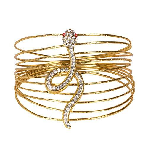 Boland 64426 - Armkette Noble of the Nile, Armschmuck mit Schlange, goldenes Armband, Ägypterin, Cleopatra, Modeschmuck, Karneval, Mottoparty