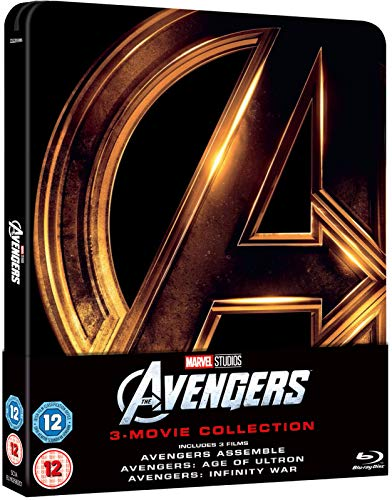 Avengers 1-3 Collection Limited Edition Steelbook / Avengers Assemble / Age Of Ultron / Infinity War / Import / Region Free Blu Ray