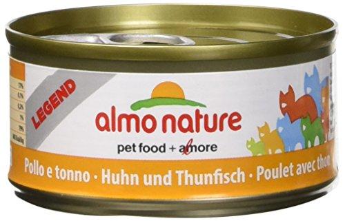 almo nature Megapack Katzenfutter nass Huhn und Thunfisch 6x70g, 1er Pack (1 x 0.420 kilograms)