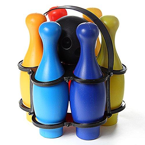 Maison Futée - Jeu de mini bowling pour enfant - 6 quilles et une boule