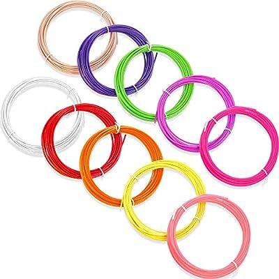 10 Pieces 3D Pen PLA Filament Refills 10 Colors 3D Printer Filament Refills, 1.75 mm PLA Filament Pack, Each Color 16.4 Feet, Total 164 Feet (Bright Colors)