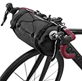 ROCKBROS Bikepacking Bike Handlebar Bag Waterproof Large Dry Pack Bicycle Front Bag Roll for MTB Mountain Road Drop-bar Bikes Bar