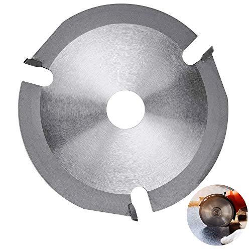 AFASOES Disco Amoladora Madera 125mm Disco de Madera para Radial Pequeña Disco de Corte de Madera para Amoladora Sierra Circular Disco Radial Madera para Madera Corte y Desbarbar, 3 Dientes