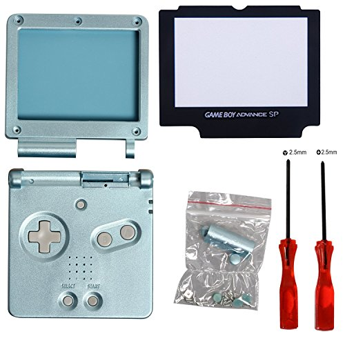 Full Housing Case Shell with Screwdriver for GBA SP Gameboy Advance SP-Light Blue