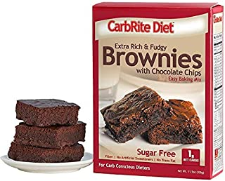CarbRite Sugar Free Brownie Mix - Low Carb Baking and Desserts - For Keto and Low Sugar Diets - Protein and High Fiber - Chocolate Brownie