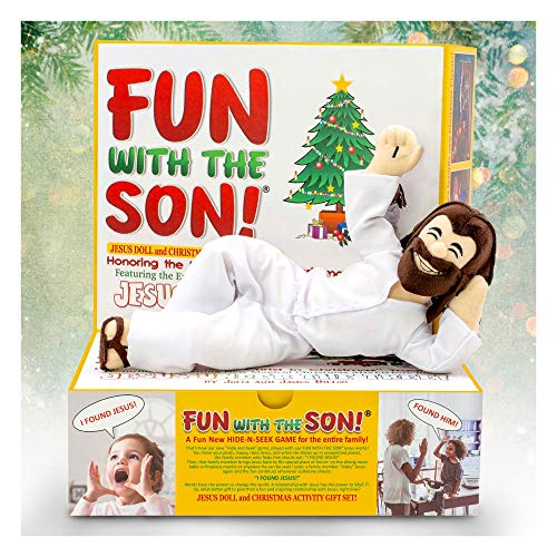 FUN WITH THE SON! Keep Christ in Christmas Easter, and Everyday Life! Alternative to the ELF! Happy, Risen JESUS DOLL, plus: JESUS UNDER THE TREE! Movie, 2 Books & more FUN online! SALE ENDS SOON!