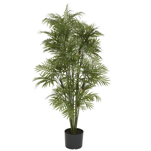Nearly Natural 5339 Plastic Parlor Palm Tree, 4-Feet, Green