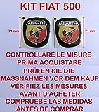 GTBTUNING 500 Abarth Kit Adesivo Stickers Logo Stemma Badge Fiat Nuova 500 Anteriore + Posteriore RESINATO Effetto 3D Adesivo 3M Cofano Baule
