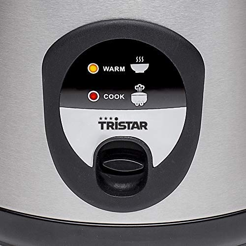 Tristar RK-6126 - Arrocera, Capacidad 1 litro, Función para Mantener el Calor, Apagado Automático, Incluye Taza Medidora, Espátula y Cuchara, 400 W