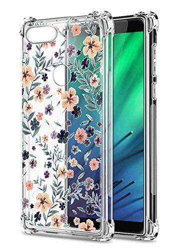 Oihxse Transparent Silicone Mignon Case Compatible pour Xiaomi Redmi Go Coque TPU Souple Ultra Mince Housse Clear Crystal Design Motif Anti-Scrach Protection Etui Bumper (A13)