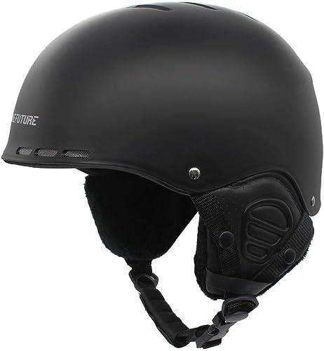 Casco da sci per adulti, casco da neve traspirante con copertura spessa per le orecchie, casco da snowboard di B08LSMGLW6