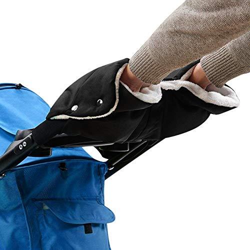 Amzkoi Kinderwagen HandwäRmer, Baby Stroller Kinderwagenhandschuhe Für Winter, Wasserdicht Winddicht Kinderwagen Handmuff, Handschuhe Kinderwagen Schwarz