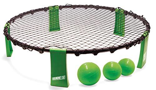 Roundnet Set, komplettes Set für den sofortigen Start, inkl. 3 Bälle, Ballpumpe und Tragetasche, ultimativer Spaßfaktor für Jung und Alt, 970980