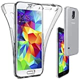 ebestStar - Funda Compatible con Samsung S5 G900F, Galaxy S5 New G903F Neo Carcasa Gel Silicona Integral Ultra Claro, Protección Completa Case Cover, Transparente [Aparato: 142 x 72.5 x 8.1mm, 5.1'']
