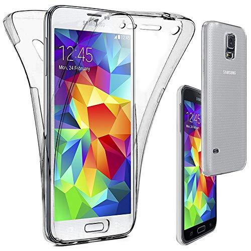 ebestStar - Cover Compatibile con Samsung S5 G900F, Galaxy S5 New G903F Neo Custodia Protezione Integrale Silicone Gel TPU Morbida e Sottile, Trasparente [Apparecchio: 142 x 72.5 x 8.1mm, 5.1'']