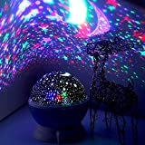 Shopello™ Star Master Dream Rotating Projection Lamp, Star Master Projector Lamp with USB Wire Turn Any Room Into A Starry Sky Colorful LED Night Lamp, Night Bulb, Night Light (Multi Color)