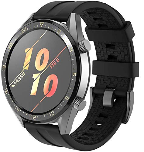 Gransho Correa de Reloj Compatible con Galaxy Watch 46mm / Galaxy Watch 3 45mm, Impermeable Reemplazo Correas Reloj Silicona Banda (22mm, Pattern 6)