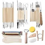 TooTaci35 PCS Herramientas de Arcilla Conjunto de herramientas para tallar cerámica - Inc...