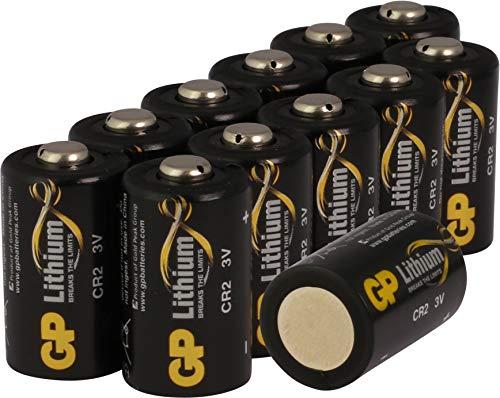 GP Batterien CR2 Lithium (12 Stück) 3 Volt (3V) für Digitalkameras, Camcorder, Rauchmelder,...