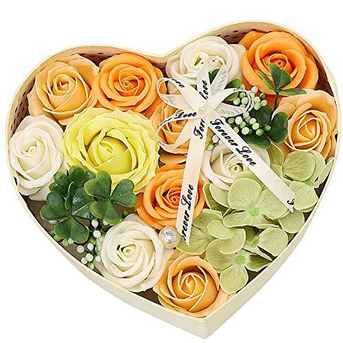 Casue hart doos badzeep rozenbloesem bloemengeurende zeep rozenbloesem vloerzeep in geschenkdoos voor Valentijnsdag jubileum Moederdag verjaardag