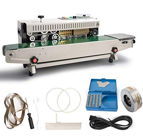 INTBUYING 110V FR-770 Continuous Band Horizontal/Vertical Bag Sealer Automatic Sealing Machine for PVC Membrane Bag Film (Horizontal)