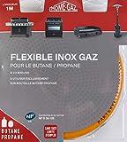 Home Gaz GAZ100 - Tubo metálico (acero inoxidable, 1 m, sin fecha de caducidad)...