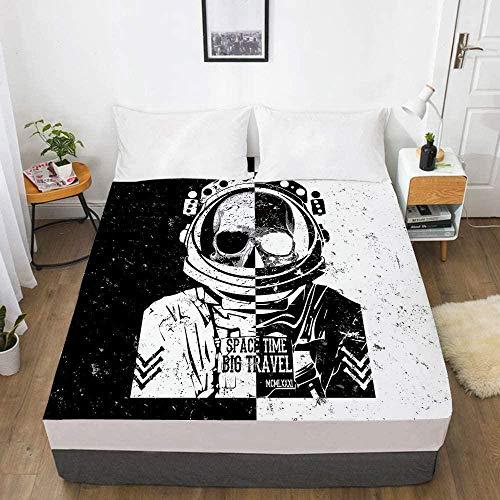 Bedclothes-Blanket 3D Digitaldruck Bettlaken Matratze Schutzhülle Schädel Bettwäsche-200x200_3