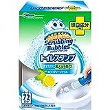 スクラビングバブル トイレ洗浄剤 トイレスタンプ 漂白成分プラス ホワイティーシトラスの香り 本体 (ハンドル1本+付替用1本) 6スタンプ分の写真