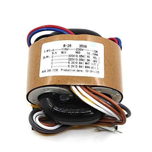 Buy Discount 35VA R-core transformer 0-115-230V to 0-220V plus 2 0-6.3V plus 2 for tube preamp DIY
