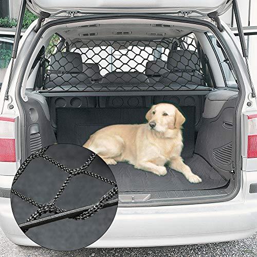 Onlyonehere Barrière de chien pour voiture Protection de chien Isolation nette de la voiture Barrière nette du coffre arrière Filet de sécurité pour animal de compagnie Filet de sécurité de excitement