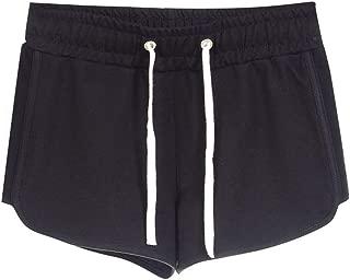 Dunacifa Womens Casual Sports Shorts Summer Striped Mid Waist Loose Drawstring Ringer Shorts Pants for Running