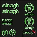 Sticker Mimo Adhesivos compatibles con ELNAGH Kit de 2 colores, accesorios para caravanas, autocaravanas, autocaravanas, autocaravanas, autocaravanas y camping (fluorescente verde 30 cm)