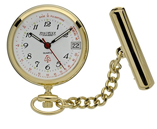 Jean Pierre chapado en oro reloj de bolsillo para enfermeras