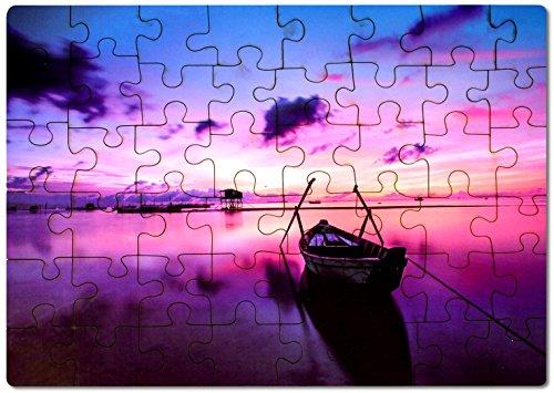 Kopieerwinkel fotopuzzel met eigen motief van hout, puzzel met eigen foto of tekst, houten puzzel met 48 delen, ca. 400 x 290 mm.