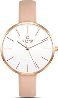 Obaku Denmark - Womens Designer Watch - Classic Modern Design Elegant Steel Case - Mesh Band - Model: Mynte, Color: Gold -...