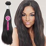 Janet Unprocessed Brazilian Virgin Remy Human Hair Weave Bombshell Natural Weave [14'-16'] (NATURAL BLACK)
