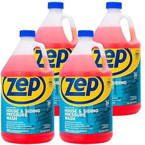 Zep House and Siding Pressure Wash Cleaner Concentrate 128 ounce ZUVWS128 (Case of 4) Construction Grade