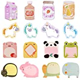 16 Set Sticky Notes,Self-Stick Removable Sticky Page Markers Cute Cartoon Animal Unicorn Cactus Note Pads Bookmark DIY Sticker Memo Pad Flag Markers for Office School
