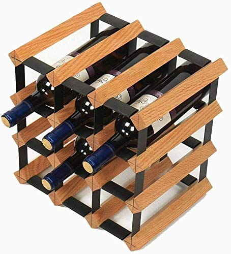 Estantería de vino Estante del vino - vino de mesa decorativa cremallera - autónomo titular de la botella de madera - for la barra / bodega / cocina, estante de vino pequeño ( Color : Woodcolor )