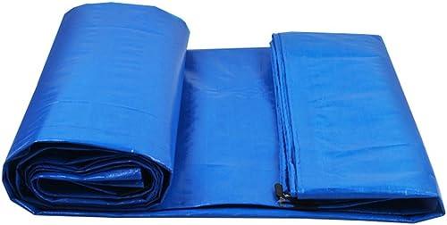 LIYin La Feuille au Sol de bache de polyéthylène Bleue Couvre la Tente de Tente pour Camper et extérieur, Options Multi-Taille
