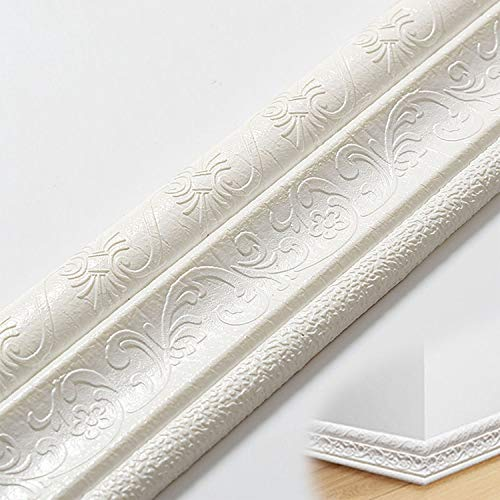 Zócalo blando autoadhesivo | Marco de espuma PE autoadhesivo | Panel de pared decorativo...