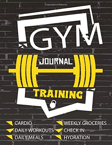 Gym training journal: gym ppl training workout split record book , track cardio,macros,weight,1 rep max and more